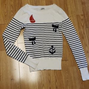 Lightweight Nautical striped sweater SZ XS